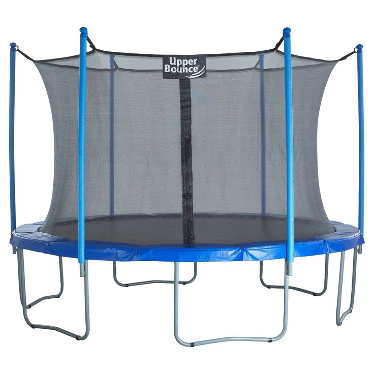 """Upper Bounce 15' Trampoline and Enclosure Set equipped with the New """"Easy Assemble Feature"""", Blue"""