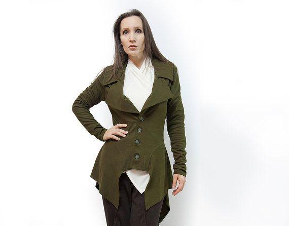 jacketolive jacketjersey jacketlong sleevesoriginal by AnnaPerena, $102.00