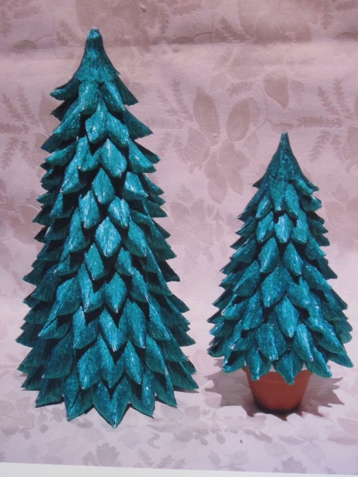 Alberini in carta crespa metallizzata - Christmas tree: metallized italian crepe paper