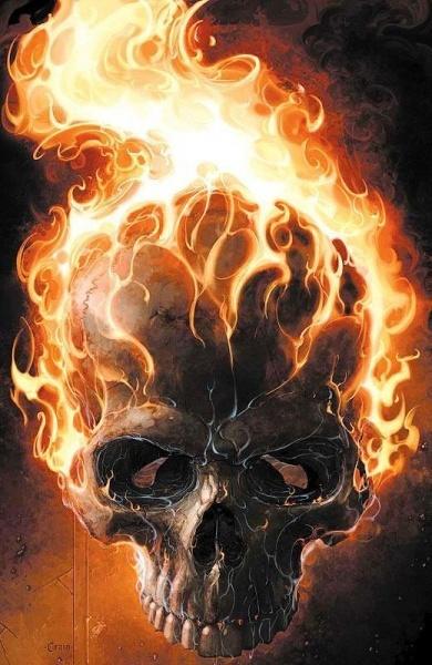 skull flame