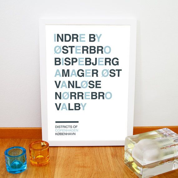 Districts of Copenhagen print par fromparistohelsinki, €12,50