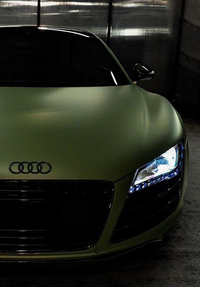 Matte Green R8... #Matte #Audi #SantaMonicaAudi