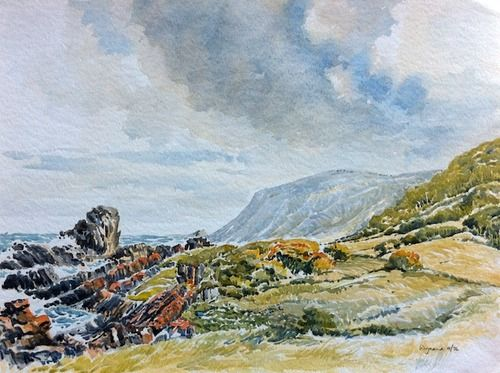 Watercolour Storm's River, Eastern Cape - Wynand Smit Snr Artist / Architect