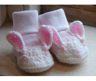 Knitting Pattern Central Easter : BUNNY BABY BOOTIES PATTERN Free Baby Patterns