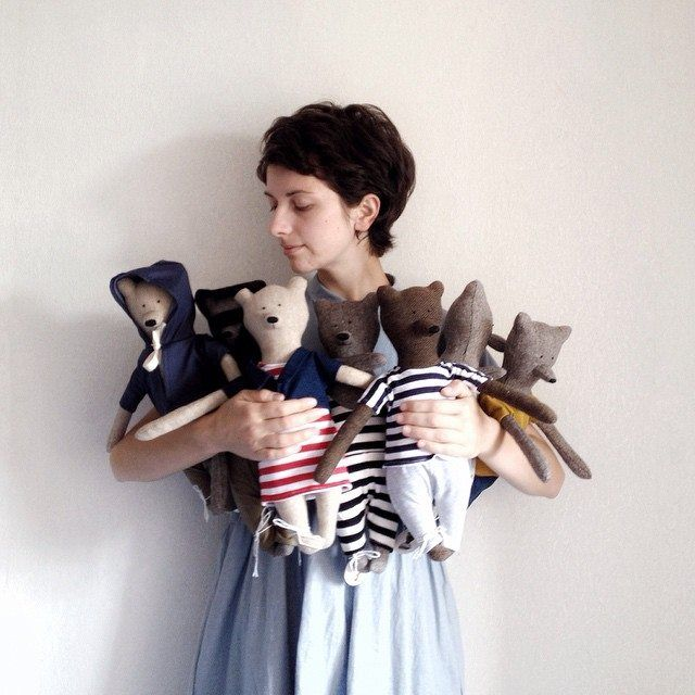 Philomena Kloss - handmade teddy bears, foxes or raccoons from Odessa, Ukraine.  Welcome to the Little Loaf Story world of beautiful stuff for babies!