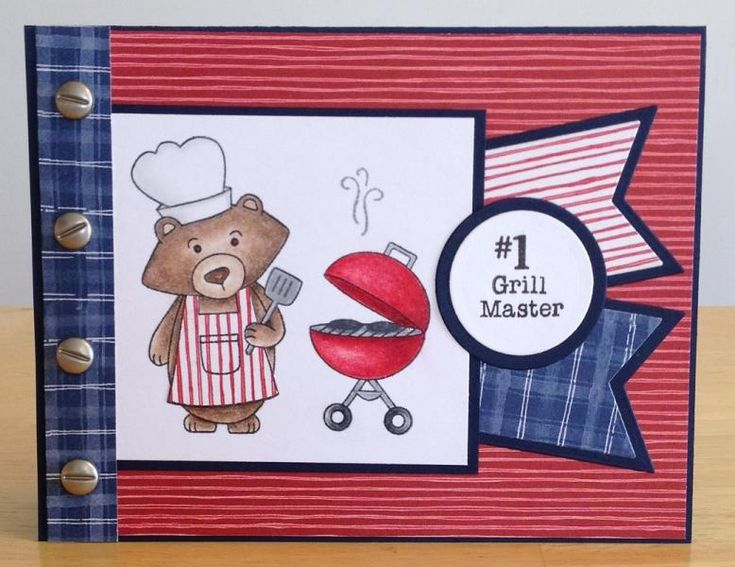 Grill Master by jenn47 - Cards and Paper Crafts at Splitcoaststampers - Winstons BBQ stamp set by Newton's Nook Designs