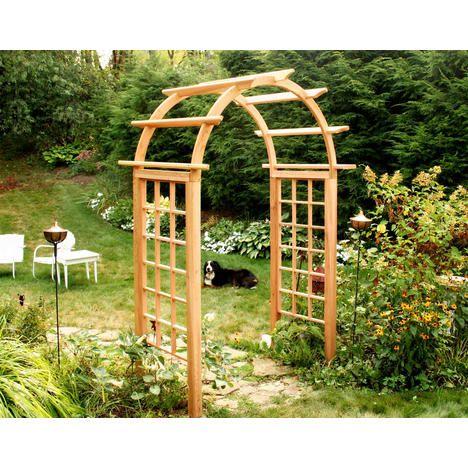 """800 Creekvine Outdoor Garden Cedar Arched Arbor - 54"""" Opening"""