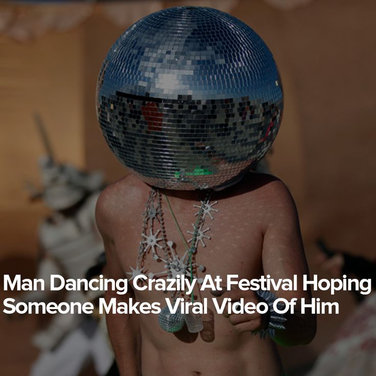 Man Dancing Crazily At Festival Hoping Someone Makes Viral Video Of Him