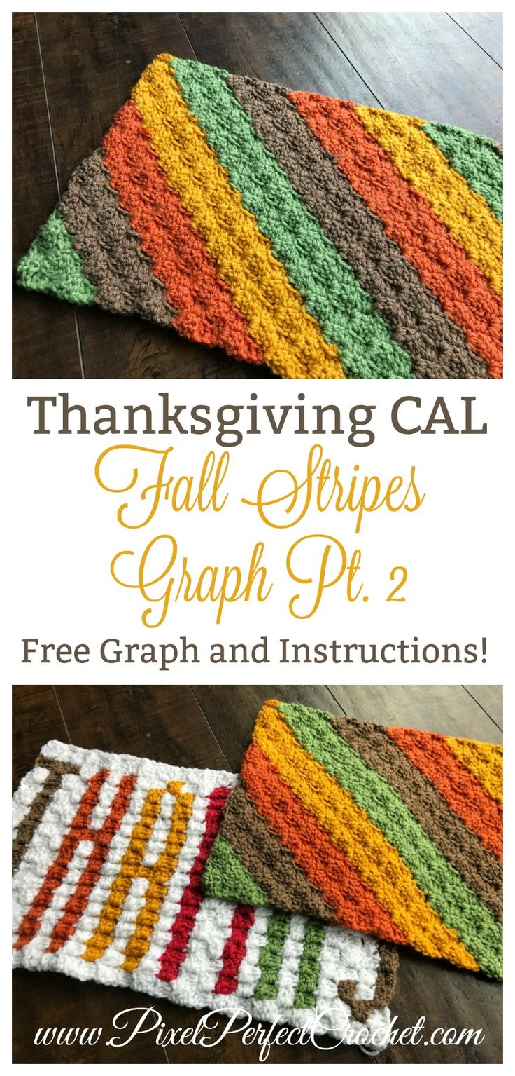 Welcome to the last panel of our Thanksgiving Pillow CAL! This panel pairs perfectly with our 'Thanks' Panel or could be used on is own for a pillow or fall inspired placemat. Enjoy! #crochet #cornertocornercrochet #fall #thanksgivingdecor #givethanks #fallcolors