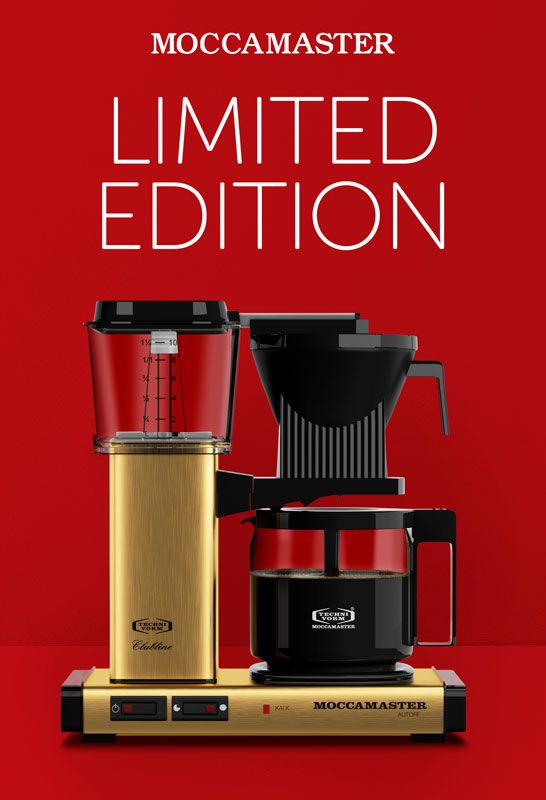 Fin Limited Edition Guld kaffemaskine fra Moccamaster #Moccamaster #Limitededition #Gold #guld #kaffe #kaffemaskine