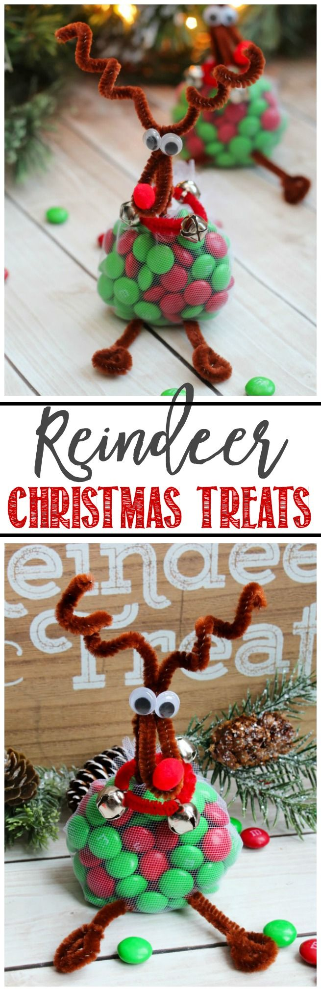 These cute little reindeer just take a few minutes to make and are a fun way to decorate your Christmas table!