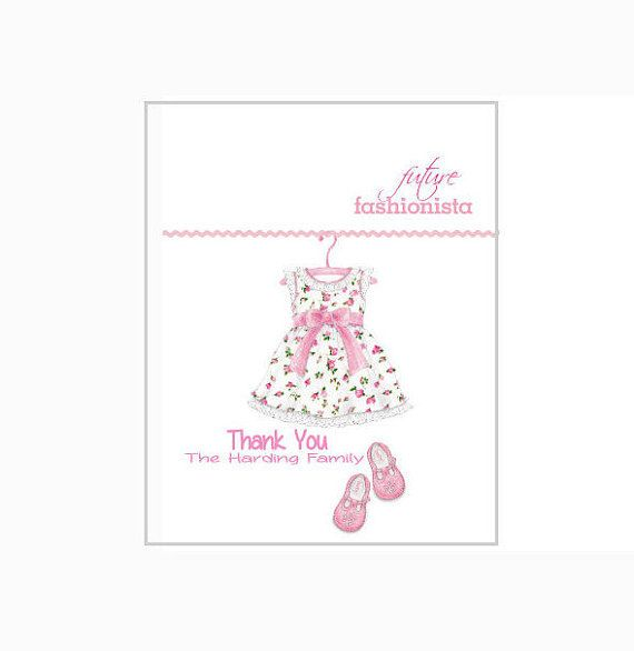 Beautiful, Personalized Baby Girl Thank You Cards. These are perfect for after your baby shower or even once your daughter is born.
