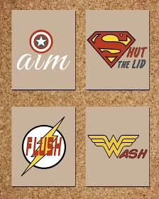 This would be cute in my  boys bathroom. He loves super heros...ofcourse!