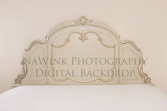 Vintage Gold Headboard Digital Backdrop // Vintage Headboard
