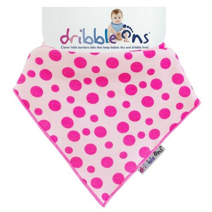 Dribble Ons Designer Dribble on Pink Spot