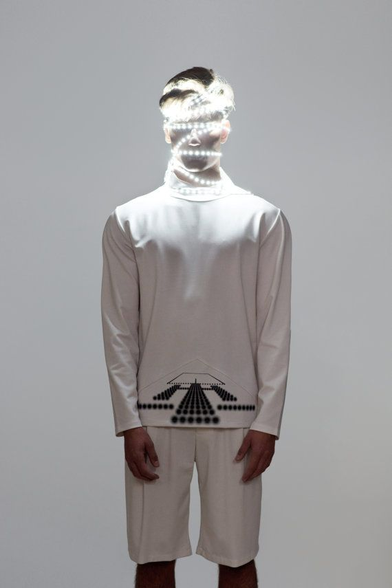 男装毛衣男士高领毛衣男子被EliranNargassi白色