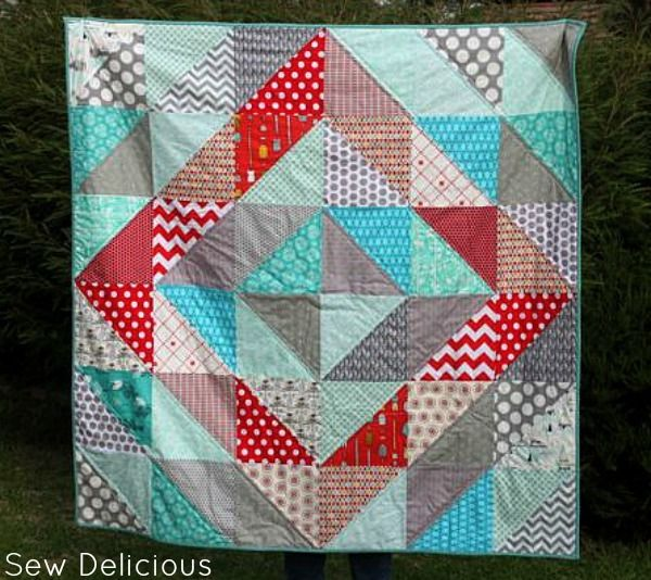 Large Square Block Quilt Patterns : Bed Quilt Patterns: a collection of DIY and crafts ideas to try Triangle quilts, Quilt and ...