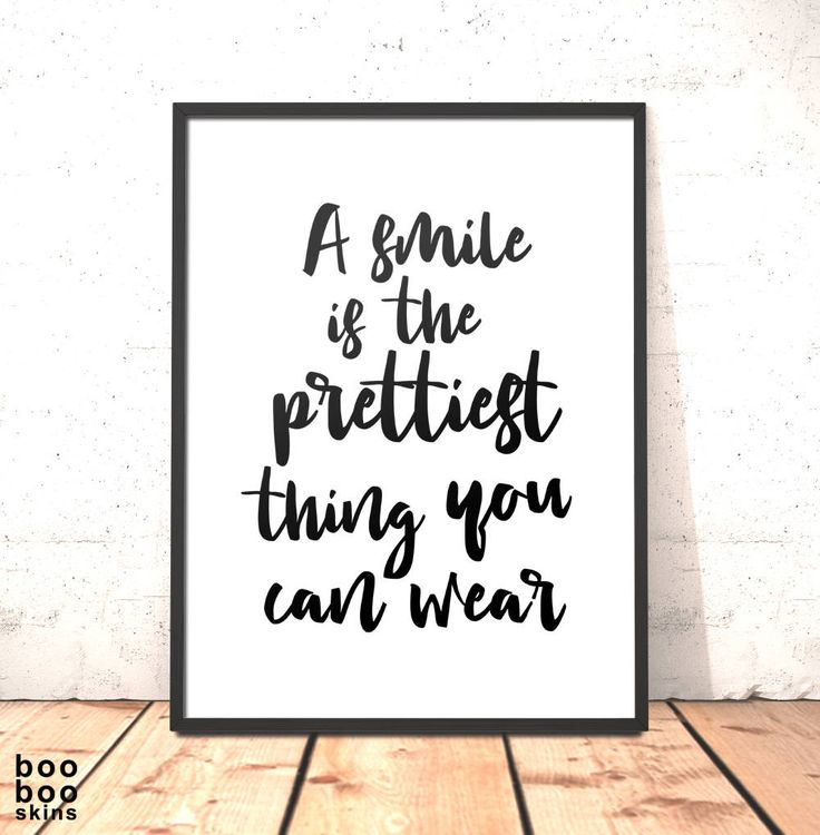 A Smile Is The Prettiest Thing You Can Wear Print   Gift for Daughter Sister Girlfriend Friend   Art for Bedroom Office   Smile Picture by boobooskins on Etsy #beauty #happy #smile #inspiration #natural #face #makeup #cosmetics #fashion #style #chanel #prada #pretty #eyes #clothes #art #printable #poster #quote #typography #simple #bold #clean #fresh #mono #boho #scandi #workspace #walls #gallery #office #bedroom #dressing