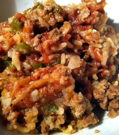 Stuffed Cabbage Casserole - Crock Pot I seasoned the meat with salt, pepper, and garlic, and still added more seasoning to the cooker.  I also used whole grain minute rice and canned tomatoes (drained and diced) instead of ketchup.
