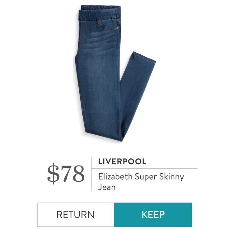 Liverpool - Elizabeth Super Skinny Jean. I love Stitch Fix! A personalized styling service and it's amazing!! Simply fill out a style profile with sizing and preferences. Then your very own stylist selects 5 pieces to send to you to try out at home. Keep what you love and return what you don't. Only a $20 fee which is also applied to anything you keep. Plus, if you keep all 5 pieces you get 25% off! Free shipping both ways. Schedule your first fix using the link below! #stitchfix @stitchfix…
