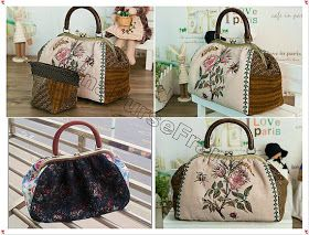 Do you like this purse?    Here is the making steps for your reference :)  1) Cut the fabrics according to the pattern;  2) sewing together;...
