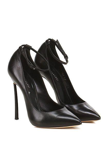 CASADEI - Decolletè - Donna - Decolletè in pelle con cinturino alla caviglia e…