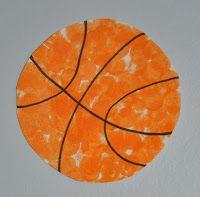 sports day theme - bingo dauber / do a dot marker, paper plate basketball