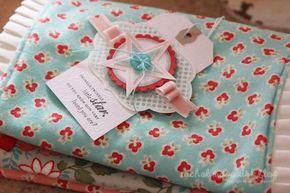 Baby gift - homemade burp cloths