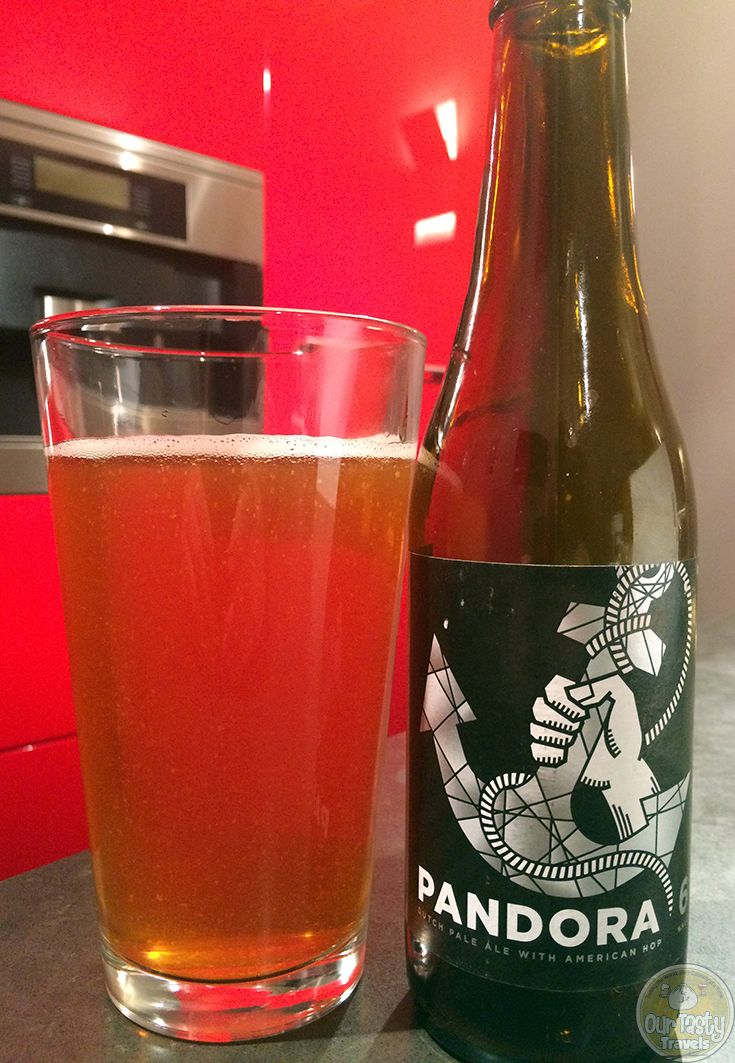 6-Jan-2015 : Pandora by Maximus Brouwerij from Utrecht, the Netherlands.  A Dutch Pale Ale made with American Hops and a bitter finish. #ottbeerdiary