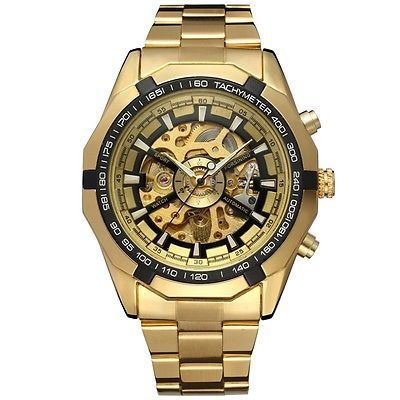 TOP AFFAIRE  Montre Homme  Automatique Mécanique Squelette  - Men Watch Skeleton