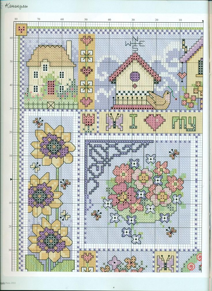 Point de croix -m@-Cross stitch garden 2