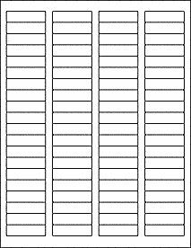 """1.75"""" x .5"""" matte white, blank printable return address labels w/ REMOVABLE adhesive, 10 sheets (800 labels). Use for price tags, addresses by mysuppliessource on Etsy #addresslabel #pricetag #thankyousticker #makeyourown"""