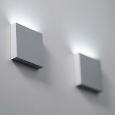 q1 led semi recessed wall light for indoor or outdoor use
