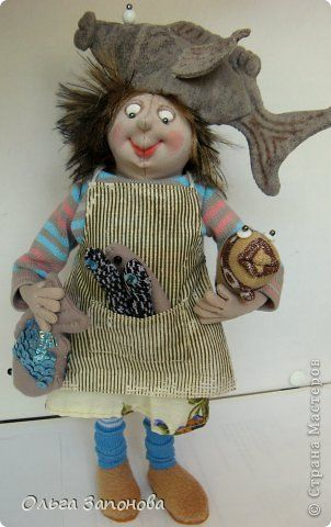 Куклы Шитьё Богатый улов Рыбачка Фрости по дизайну Джилл Маас  фото 2