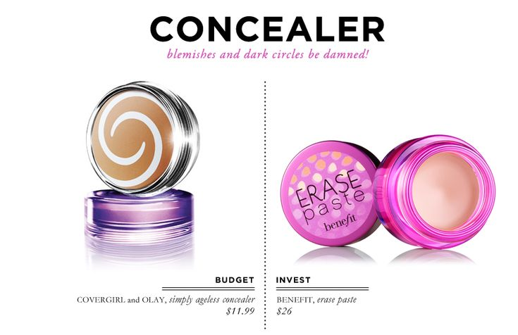 ... & Olay Simply Ageless Concealer $11.99 // Benefit Erase Paste $26