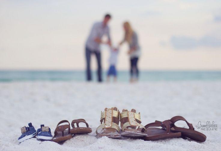 Pregnancy Announcement - Shoes - Beach Photography - Destin, FL - Bumblebee Photography