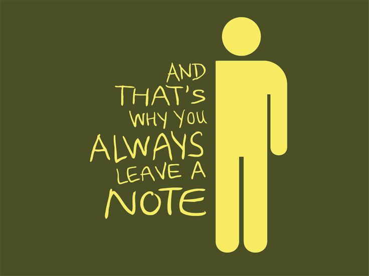 Always Leave a Note
