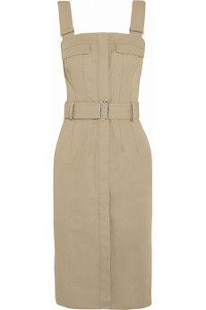 Alexander McQueen Belted cotton-canvas dress