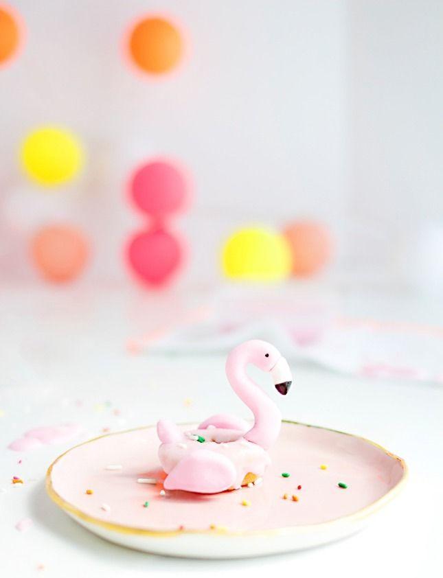 Mini Flamingo Donuts.