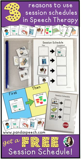 Need an idea on how to get started with visual session schedules for therapy? Check this out!