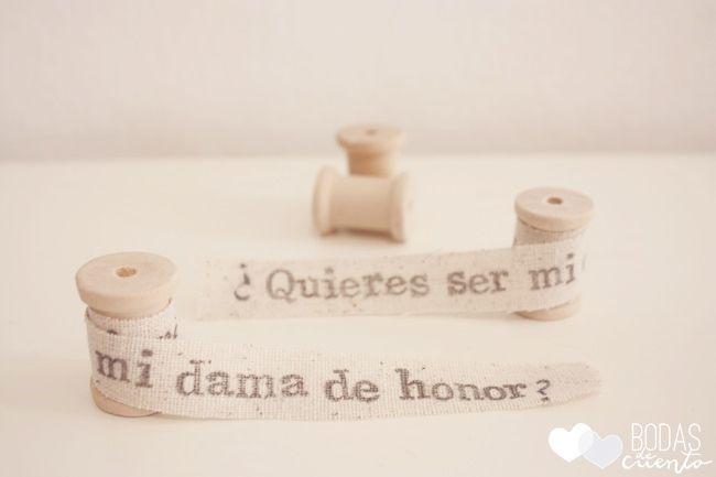 ¿Quieres ser mi dama de honor? Una propuesta de @Bodas de Cuento #bridesmaids #damasdehonor #tendenciasdebodas