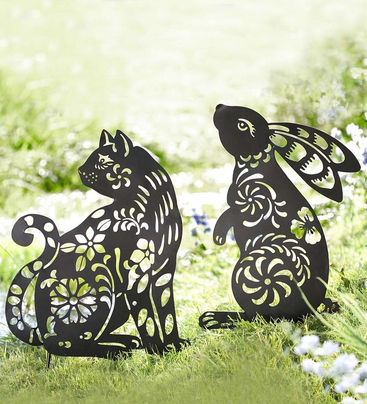 Animal Silhouette Garden Stake in Garden Stakes
