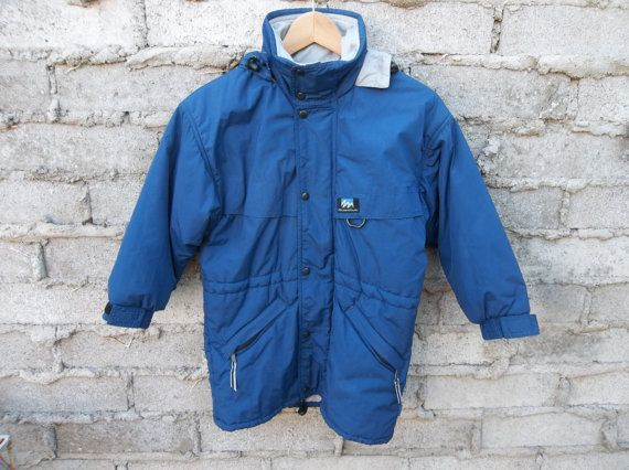Etsy の Retro Jacket Blue Mens by Quechua by RetroVintageClothing