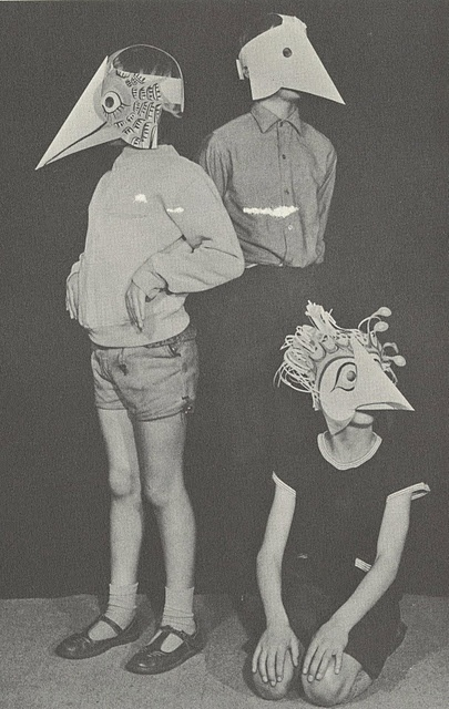 * Paper Faces (1968) - Michael Grater These children's paper face masks are excerpts from one of the books by Michael Grater, entitled Paper Faces