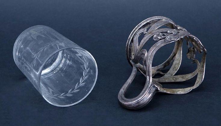 Russian Faberge 84 Silver Art Nouveau Cup Holder/Insert - 2