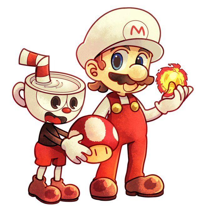 Cuphead Cuphead Mario Player One Super Mario Bros Videospiele