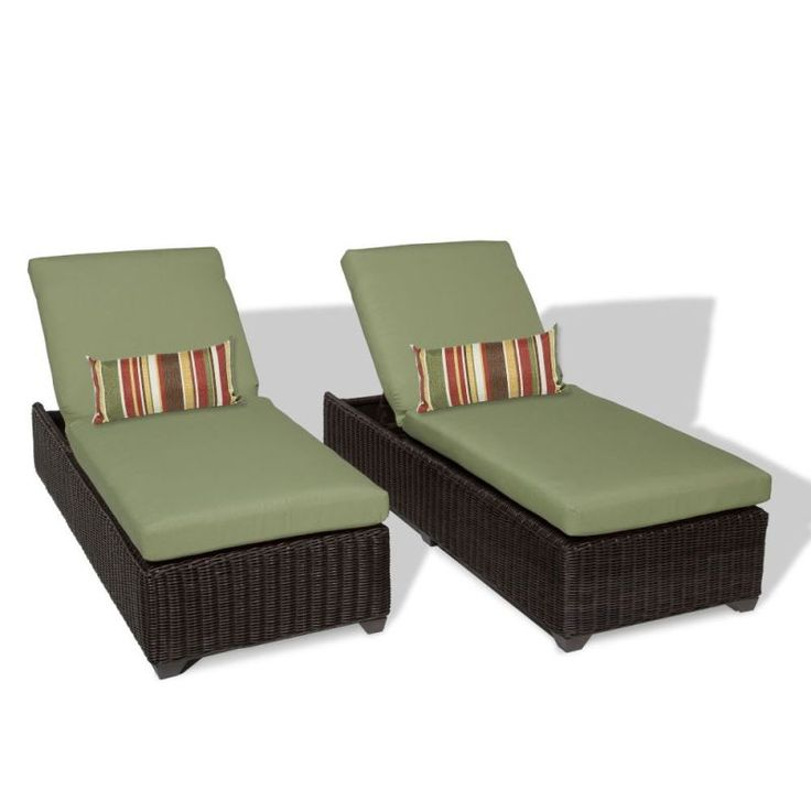 tk classics venice outdoor chaise lounge set of 2 chairs and cushion covers gray