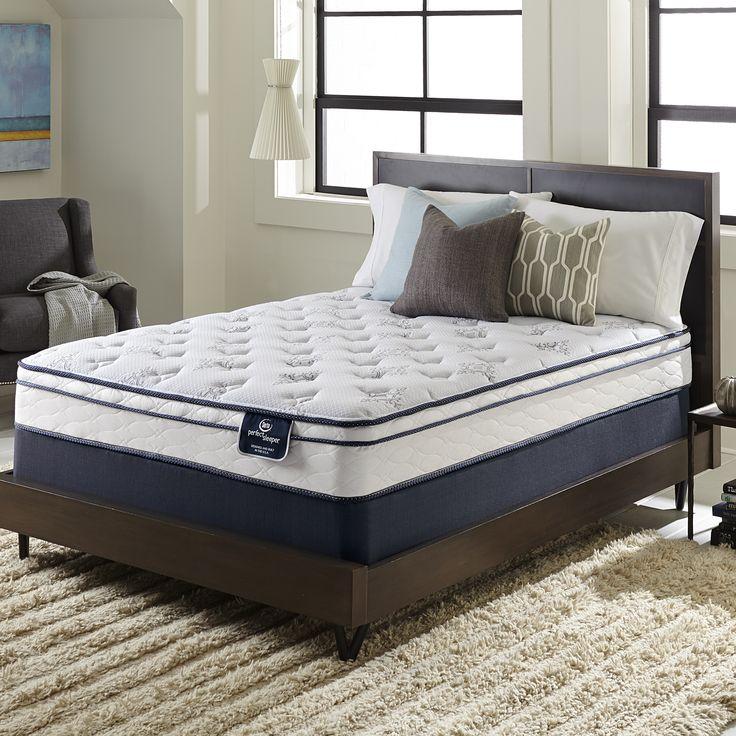 Serta Perfect Sleeper Birchcrest Eurotop Full-size Mattress Set (Full Mattress with 9 Profile Boxspring), White