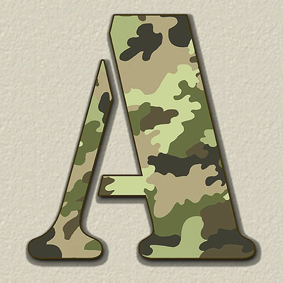 Camouflage Digital Alphabet, Camo Alphabet Clipart, Printable Camouflage Letters + Numbers + Punctuation, Military Alphabet Clipart