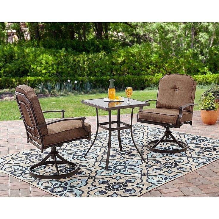 Indoor Outdoor Modern Dining Bistro Patio Furniture 3 Piece Backyard Pool Set  #DealsToday